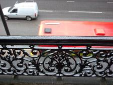 Balcony Steelwork painted by abseilers