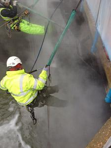 Cleaning MArina Gates Prior to Painting