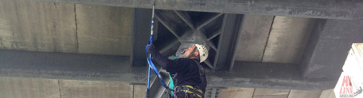 Abseiler Cleaning Girders