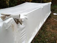 Shrink Wrapped Steelwork